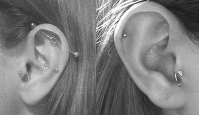 dicas de piercings de cartilagem