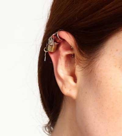 sugestões de piercings na orelha