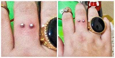 fotos e dicas de piercings no dedo